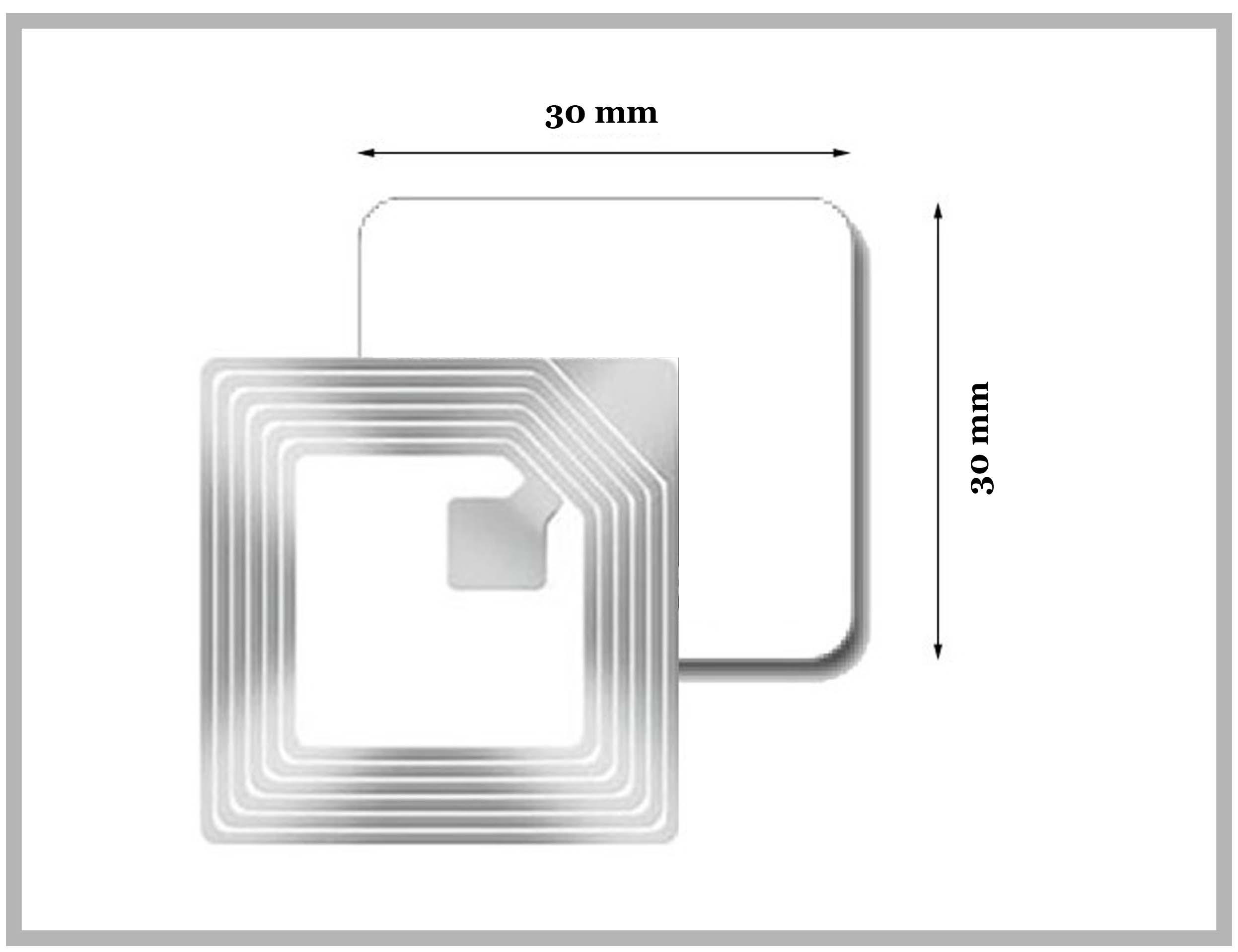 RF Label 30x30mm sans code barre