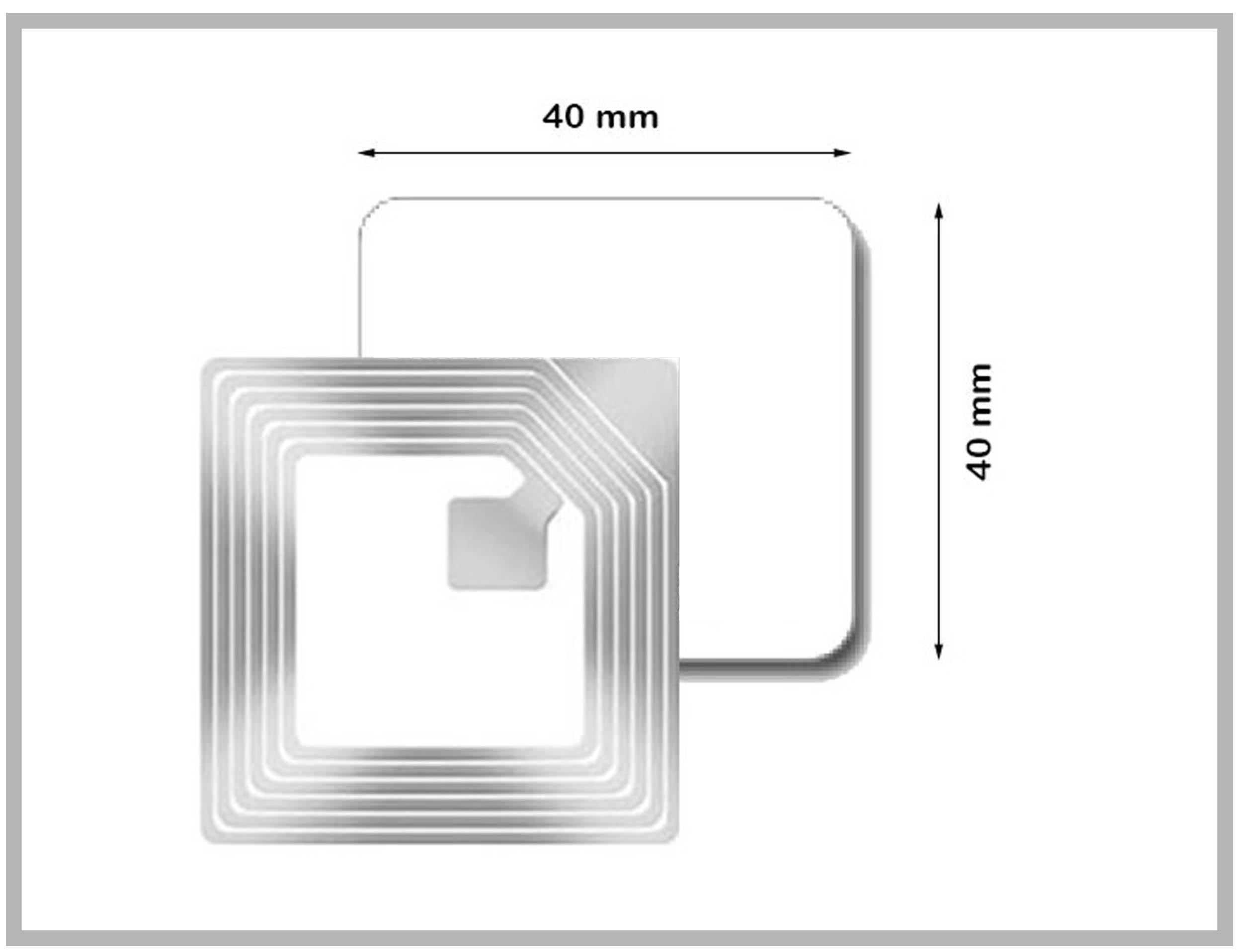 RF Label 40x40mm sans code barre